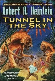 Tunnel in the Sky-by Robert A. Heinlein cover